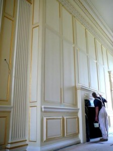 Easton Neston Country House grand corridor