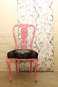 Instant effect with great wallpaper and old painted wall
