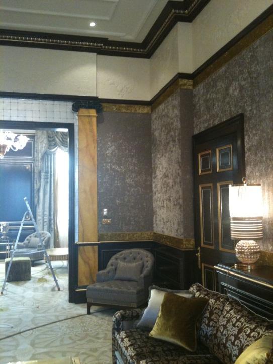 Velvet Wallcovering In A Georgian Townhouse