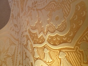 Gold leaf wallcovering