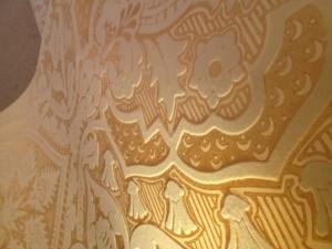 Gold leaf wallcovering